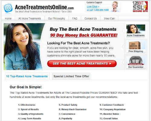 acne affiliate example