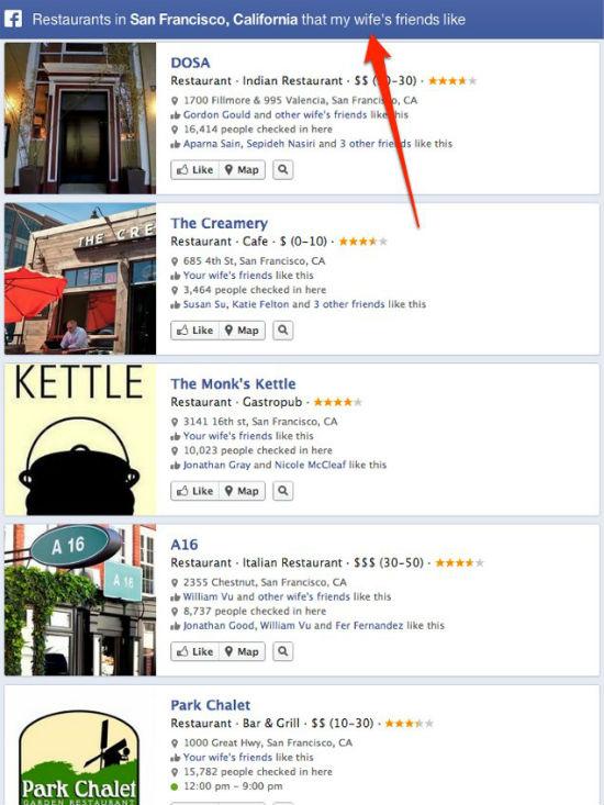 example facebook graph search