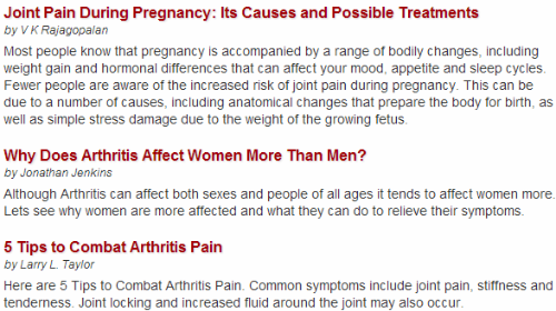 arthritis-articles