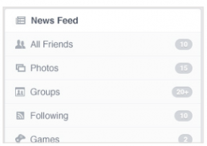 newsfeed filters