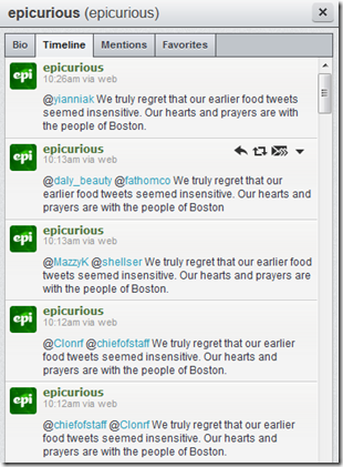 Epicurious Boston Apology