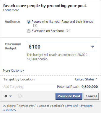 how to geotarget facebook promoted posts