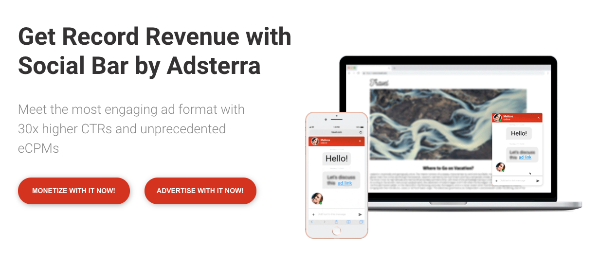 Social Bar from Adsterra: revolutionary digital ad format