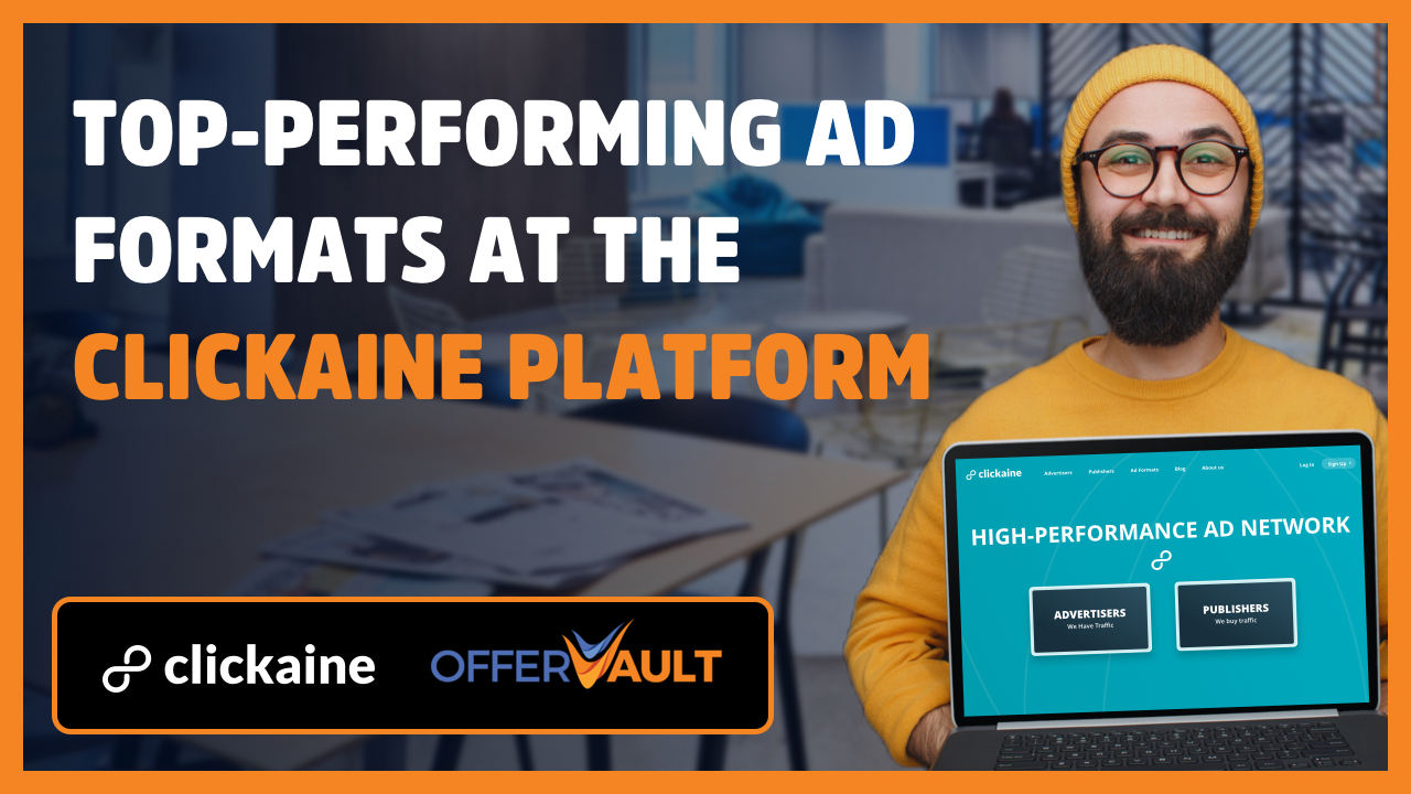 Top-performing Ad formats on the Clickaine platform